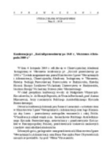 """Konferencja pt. """"Kościół prawosławny po 1945 roku"""". Warszawa, 4 listopada 2009 r."""