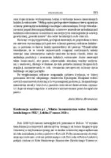 """Konferencja naukowa pt. """"Władza komunistyczna wobec Kościoła katolickiego w PRL"""". Lublin, 17 marca 2010 r."""