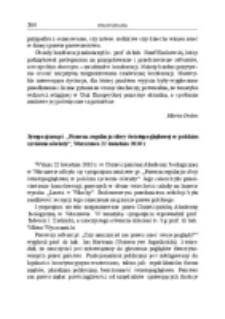 """Sympozjum pt. """"Prawna regulacja sfery światopoglądowej w polskim systemie oświaty"""", Warszawa, 22 kwietnia 2010 r."""