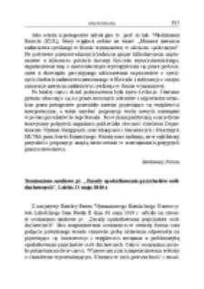 """Seminarium naukowe pt. """"Zasady opodatkowania przychodów osób duchownych"""", Lublin, 31 maja 2010 r."""