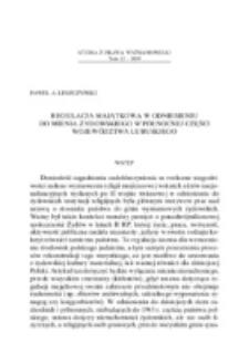 Regulacja majątkowa w odniesieniu do mienia żydowskiego w północnej części województwa lubuskiego.