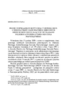 Proces uchwalania ustawy z dnia 17 grudnia 2009 r. o uregulowaniu stanu prawnego niektórych nieruchomości pozostających we władaniu Polskiego Autokefalicznego Kościoła Prawosławnego.