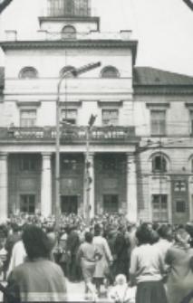Pogrzeb Śp. Księdza Biskupa Henryka Strąkowskiego - przed ratuszem lubelskim