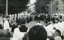 Pogrzeb Śp. Księdza Biskupa Henryka Strąkowskiego - Biskupi i Senat KUL w kondukcie pogrzebowym