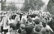 Pogrzeb Śp. Księdza Biskupa Henryka Strąkowskiego - Kondukt pogrzebowy - kapituła katedralna