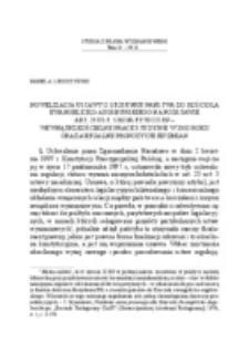 Nowelizacja ustawy o stosunku Państwa do Kościoła Ewangelicko-Augsburskiego na podstawie art. 25 ust. 5 Konstytucji RP – wewnątrzkościelne prace studyjne w 2002 roku oraz aktualne propozycje jej zmian.