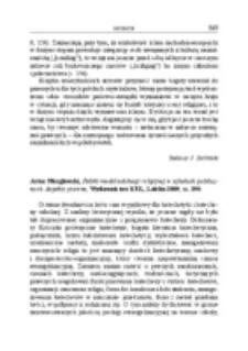 Recenzja : Artur Mezglewski, Polski model edukacji religijnej w szkołach publicznych. Aspekty prawne, Wydawnictwo KUL, Lublin 2009, ss. 290.