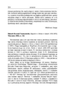 Recenzja : Henryk Ryszard Tomaszewski, Baptyści w Polsce w latach 1918-1958, Warszawa 2008, ss. 516.
