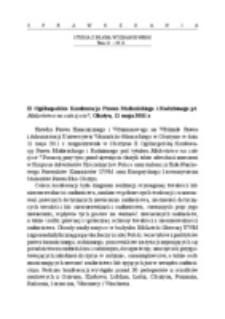 II Ogólnopolska Konferencja Prawa Małżeńskiego i Rodzinnego pt. Małżeństwo na całe życie?, Olsztyn, 11 maja 2011 r.