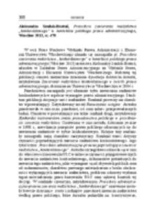 """Recenzja : Aleksandra Szadok-Bratuń, Procedura zawierania małżeństwa """"konkordatowego"""" w kontekście polskiego prawa administracyjnego, Wrocław 2013, ss. 479."""
