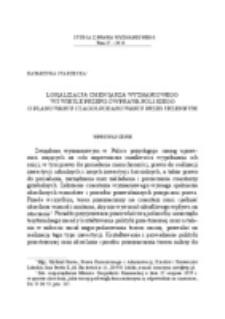 Lokalizacja cmentarza wyznaniowego w świetle przepisów prawa polskiego o planowaniu i zagospodarowaniu przestrzennym.