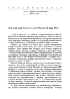 Sesja naukowa pt. Klauzula sumienia, Warszawa, 20 lutego 2014 r.