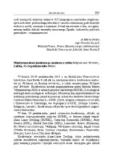 Międzynarodowa konferencja naukowa z cyklu Religion and Territory, Lublin, 23-24 października 2014 r.