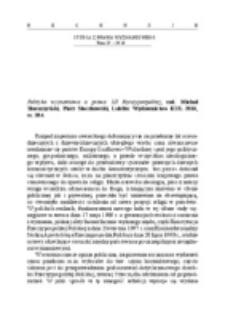 Recenzja : Polityka wyznaniowa a prawo III Rzeczypospolitej, red. Michał Skwarzyński, Piotr Steczkowski, Lublin: Wydawnictwo KUL 2016, ss. 384.