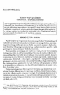 Sobór Watykański II. Tradycja i współczesność.