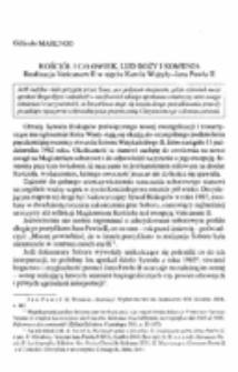 Kościół i czlowiek, lud Boży i komunia. Realizacja Vaticanum II w ujęciu Karola Wojtyły-Jana Pawła II.