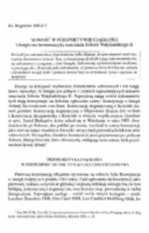 Nowość w perspektywie ciągłości. Liturgiczna hermeneutyka nauczania Soboru Watykańskiego II.