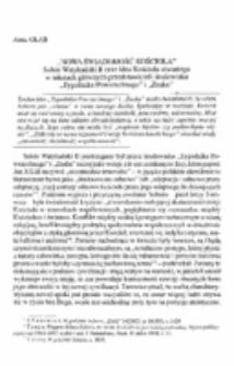 """""""Nowa świadomośc Kościoła"""". Sobór Watykański II oraz idea Kościoła otwartego w tekstach głównych przedstawicieli środowiska """"Tygodnika Powszechnego"""" i """"Znaku""""."""