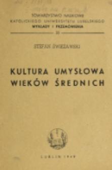 Kultura umysłowa wieków średnich / Stefan Swieżawski.