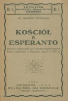 Kościół a esperanto / Nikodem Cieszyński.