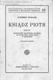 Ksiądz Piotr : szkic / Kazimierz Tetmajer.