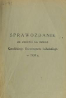 Sprawozdanie ze Zbiórki na Rzecz Katolickiego Uniwersytetu Lubelskiego 1938 R.