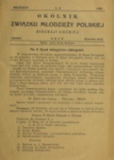 Okólnik Związku Młodzieży Polskiej Diecezji Łuckiej. Nr 6 (1929)