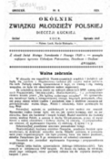 Okólnik Związku Młodzieży Polskiej Diecezji Łuckiej. Nr 8 (1929)