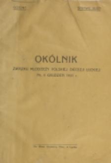 Okólnik Związku Młodzieży Polskiej Diecezji Łuckiej. Nr 6 (1931)