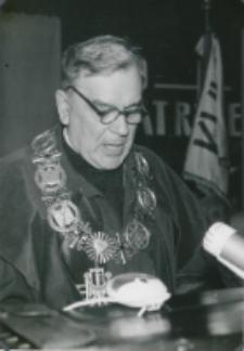 Inauguracja roku akademickiego 1965/66 : uroczystość inauguracyjną zagaja ks. rektor Wincenty Granat
