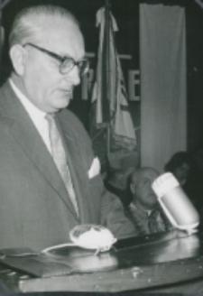 Inauguracja roku akademickiego 1965/66 : w imieniu TP KUL przemawia prezes Oddziału Warszawskiego A. Mazurkiewicz