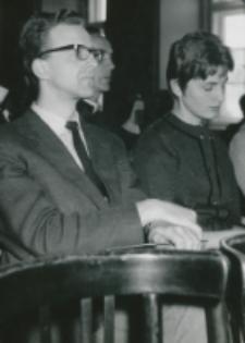 Pobyt prof. A. Joberta na KUL - 4.X.1965 r. : w czasie wykładu
