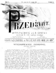 Przedświt : dwutygodnik dla kobiet. R. 1, nr 2 (1893)