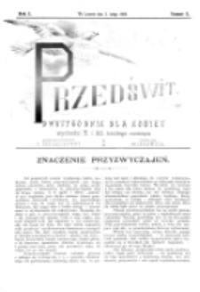 Przedświt : dwutygodnik dla kobiet. R. 1, nr 3 (1893)