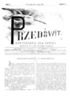 Przedświt : dwutygodnik dla kobiet. R. 1, nr 5 (1893)