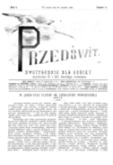 Przedświt : dwutygodnik dla kobiet. R. 1, nr 8 (1893)
