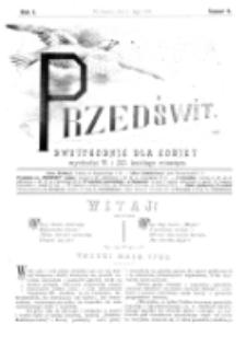 Przedświt : dwutygodnik dla kobiet. R. 1, nr 9 (1893)