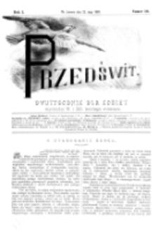 Przedświt : dwutygodnik dla kobiet. R. 1, nr 10 (1893)