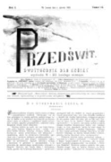 Przedświt : dwutygodnik dla kobiet. R. 1, nr 11 (1893)