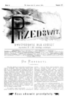 Przedświt : dwutygodnik dla kobiet. R. 1, nr 12 (1893)