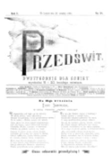 Przedświt : dwutygodnik dla kobiet. R. 1, nr 18 (1893)