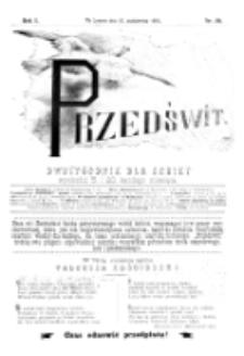 Przedświt : dwutygodnik dla kobiet. R. 1, nr 20 (1893)