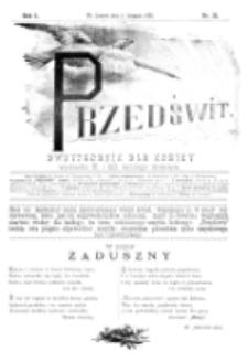 Przedświt : dwutygodnik dla kobiet. R. 1, nr 21 (1893)