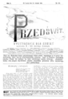 Przedświt : dwutygodnik dla kobiet. R. 1, nr 22 (1893)