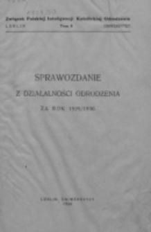 Sprawozdanie z Działalności Odrodzenia w R ... 1929-1930