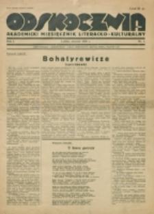 Odskocznia : akademicki miesięcznik literacko-kulturalny. R. 1, nr 1 (1936)