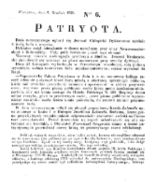 Patryota. 1830, nr 6 (6 Grudnia)
