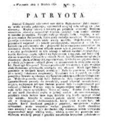 Patryota. 1830, nr 7 (7 Grudnia)