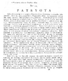 Patryota. 1830, nr 10 (10 Grudnia)