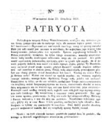 Patryota. 1830, nr 20 (20 Grudnia)